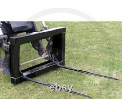 Tracteur Twin Bale Spike / Fourches Euro 8 Bracket Comprend Vat & Livraison Gratuite Uk