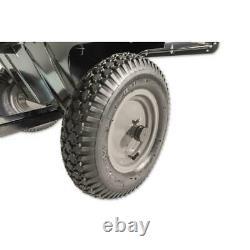 Utilitaire 12 Cart À Décharge En Acier Remorque De Jardin De Pelouse Universal Hitch Tractor Hauling