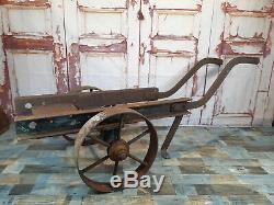 Vintage Heavy Duty Engine Chariot Fixe Vapeur Panier Lister Bamford Ruston