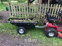 Vtt Jardin Jardin Équestre Tipper Tracteur Tour Remorque Sur La Tondeuse Body Heavy Duty
