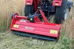 Wfl145 Tondeuse À Fléaux Robuste Winton 1.45m De Large Pour Tracteurs Compacts