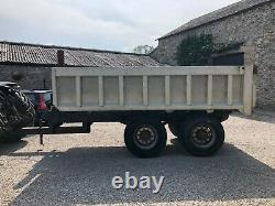 #b1266 Carrosserie D'alliage Remorque À Décharge Lourde De 18 Tonnes 10 Essieux Commerciaux Stud Vgc
